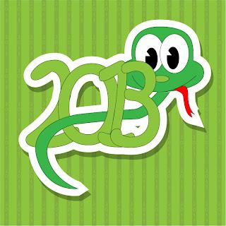 干支の蛇を描いた漫画風イラスト 2013 New Year snake backgrounds and illustrations in cartoonish style イラスト素材5