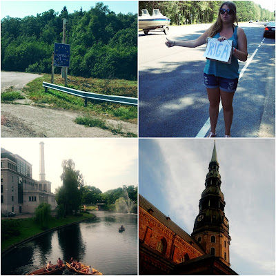 hitchhiking, Riga, Latvia