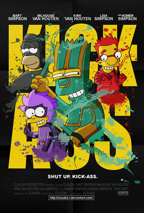 posters cinema simpsons - Kick Ass