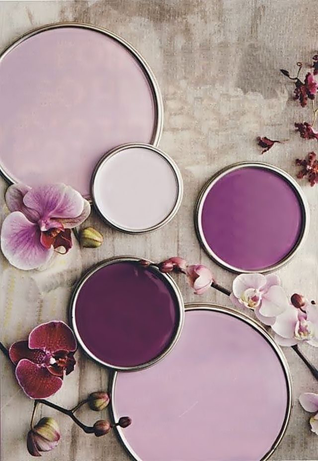The marthy 39 s vintage garden radiant orchid color of Paint color of the year