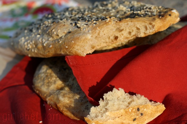 Nan e Barbari (Persian Flatbread) - Bread Baking Babes | www.girlichef.com