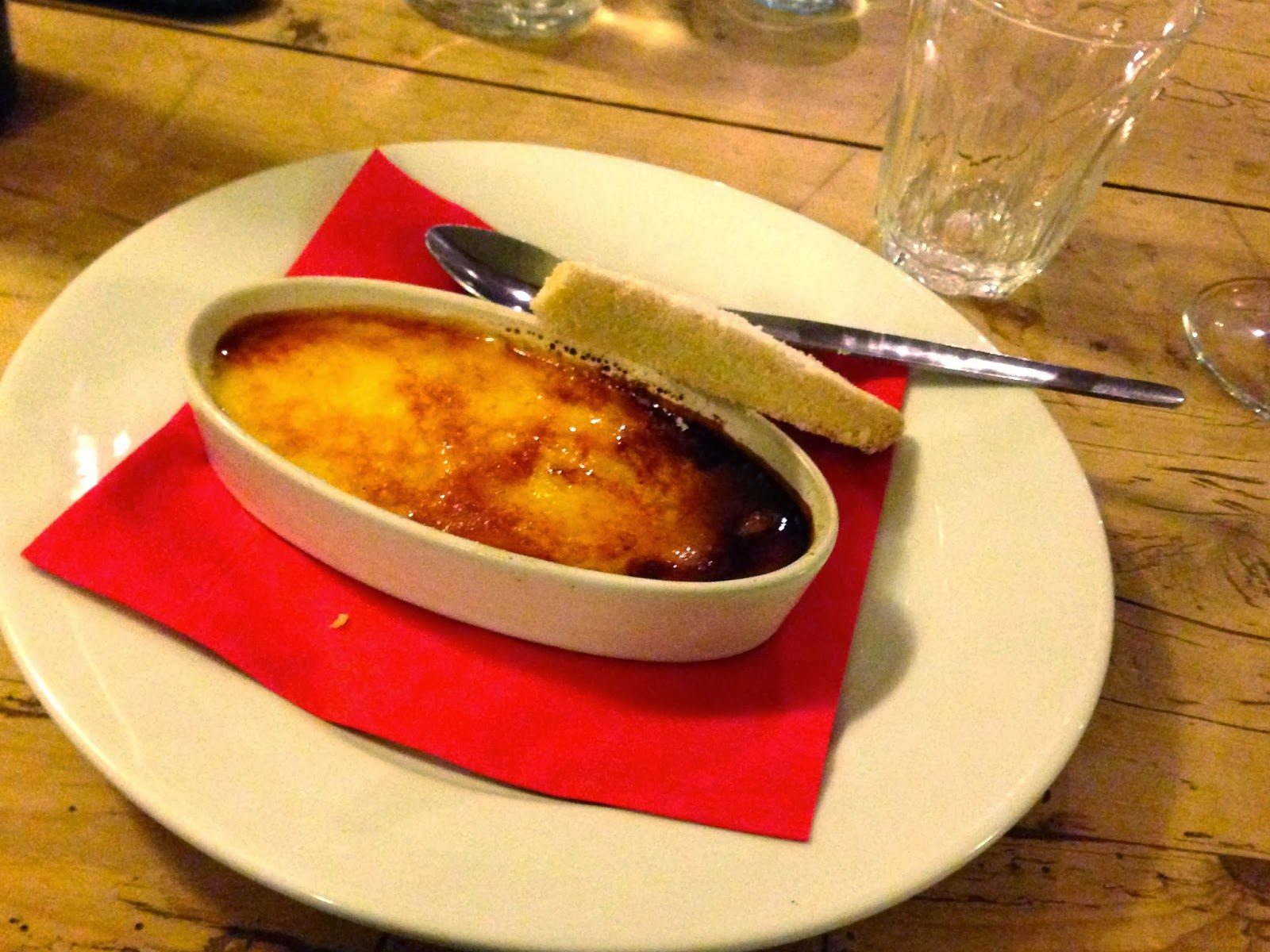 Creme brulee at Y Polyn