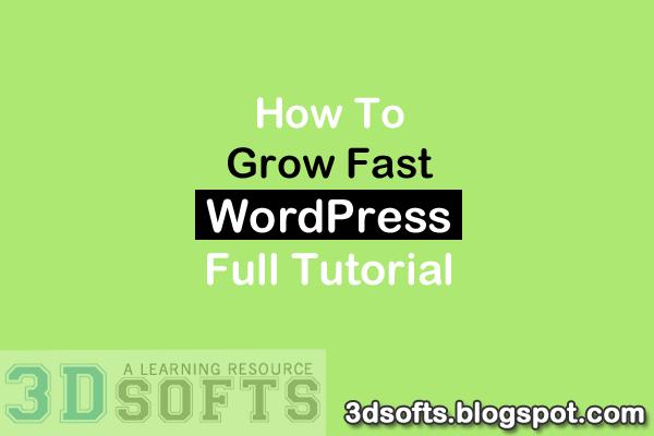 grow fast wordpress blog