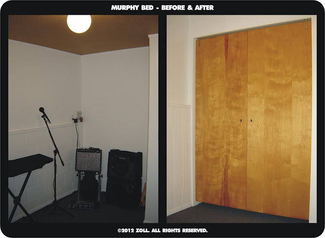 DIY Murphy Bed - Before & After
