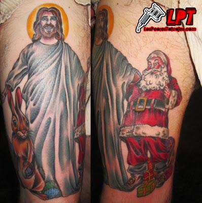 Tatuajes de Humor : Jesús, Papá Noél y el Conejo de Pascuas