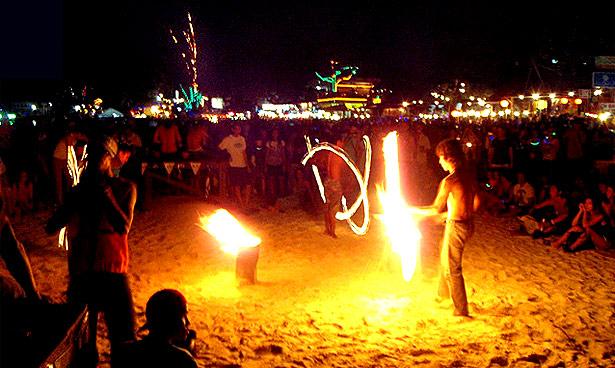 Full Moon party Koh Phangan Thaiföld Thailand