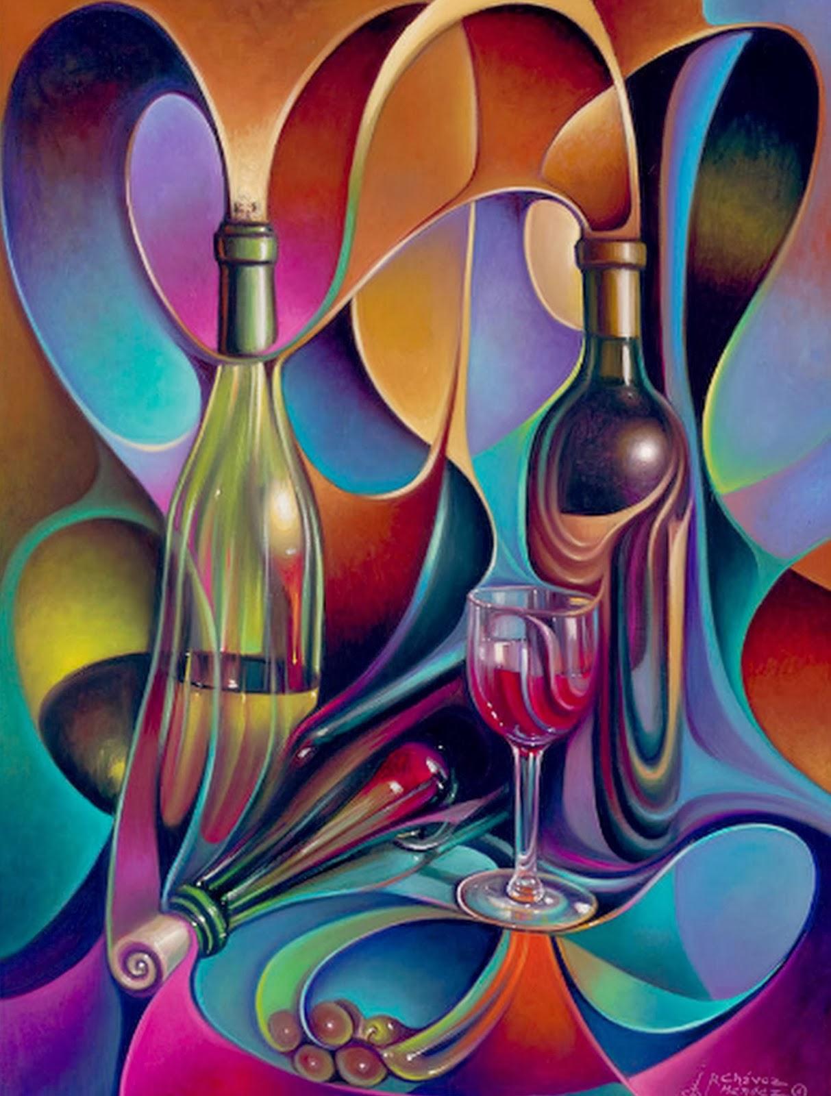 Pinturas cuadros lienzos bodegones modernos y decorativos - Pintura comedor moderno ...