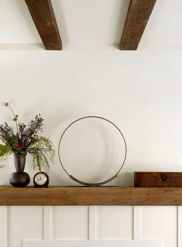 diseño interior acogedor decoración en repisa