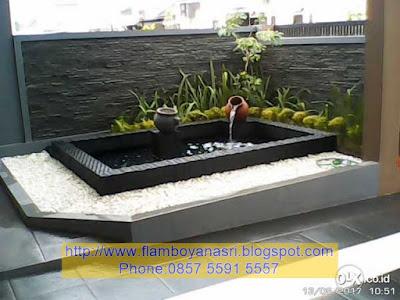 Tukang Taman Surabaya waterwall relief