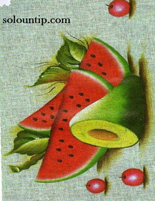 Dibujos De Frutas Para Pintar En Tela
