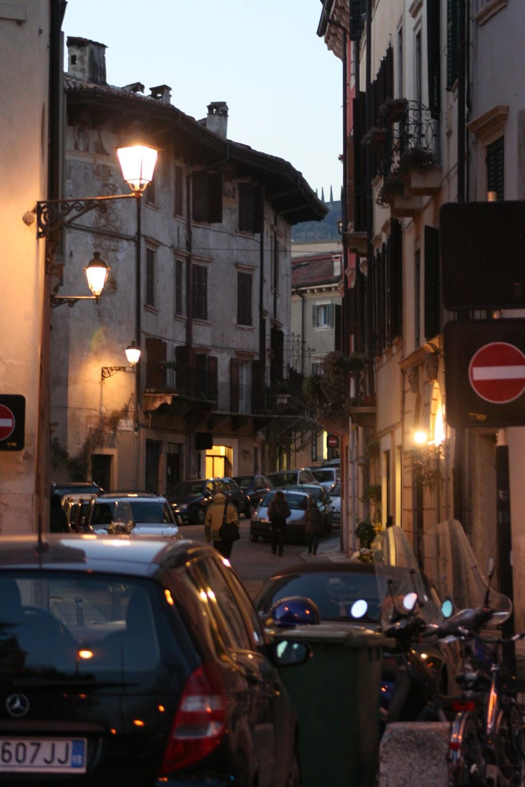 Verona - center tight streets