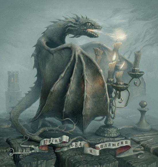 Andrew Ferez 25kartinok deviantart ilustrações sombrias surreais Dragãozinho nervoso