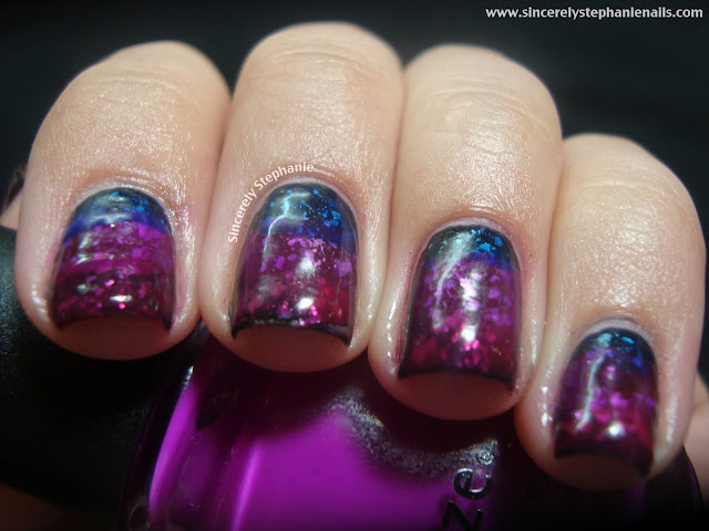 jelly gradient sandwich nail art