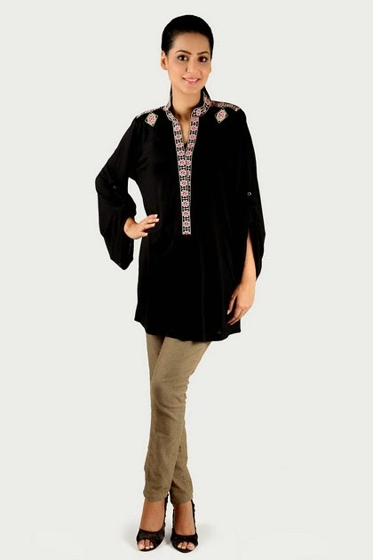 Black Long Kurti Blouse