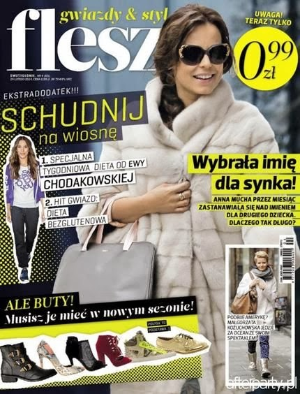 Anna Mucha Photos from Flesz Poland Magazine Cover February 2014 HQ Scans