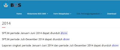 Informasi teknis Dokumen Pertanggungjawaban BOS SMK