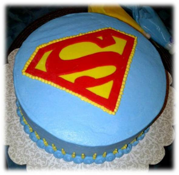 Cake Images Superman : Cakes By Nichole: Superman Cake