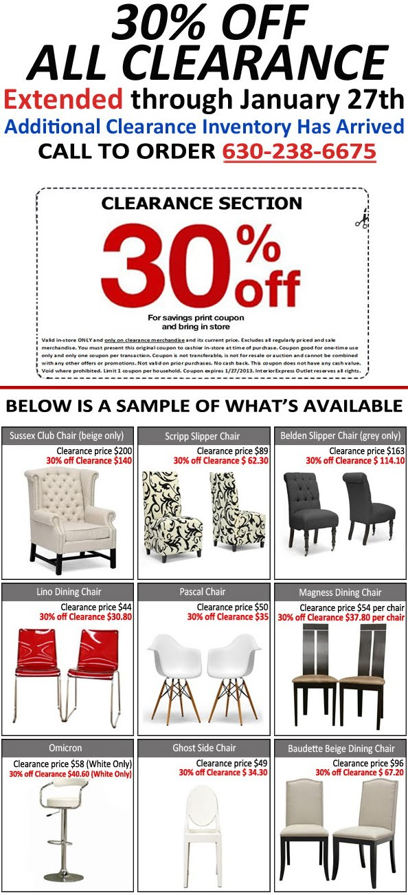 30 OFF CLEARANCE SALE Has Been EXTENDED Lombard