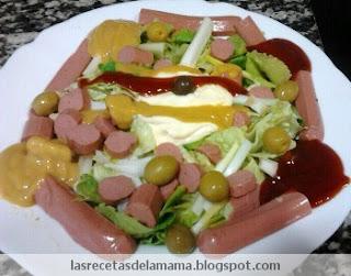 Las recetas de la mam receta de ensalada de frankfurt for Ideas ensaladas originales