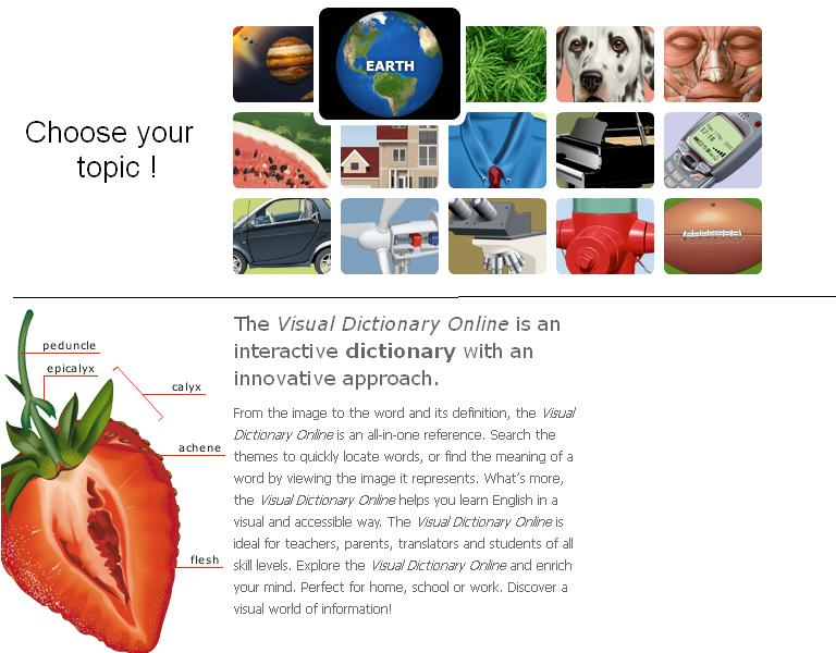 The english lab online for students teachers and parents for Visual merriam webster