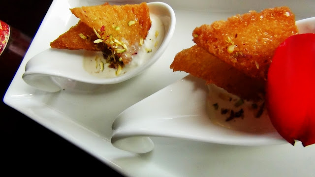 shahi tukda with mascarpone rabdi.