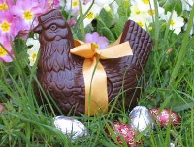 Easter Traditions in France - Chocolate Hen