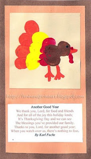 Thumbprint Turkey Art for Farm or Thanksgiving themed craft