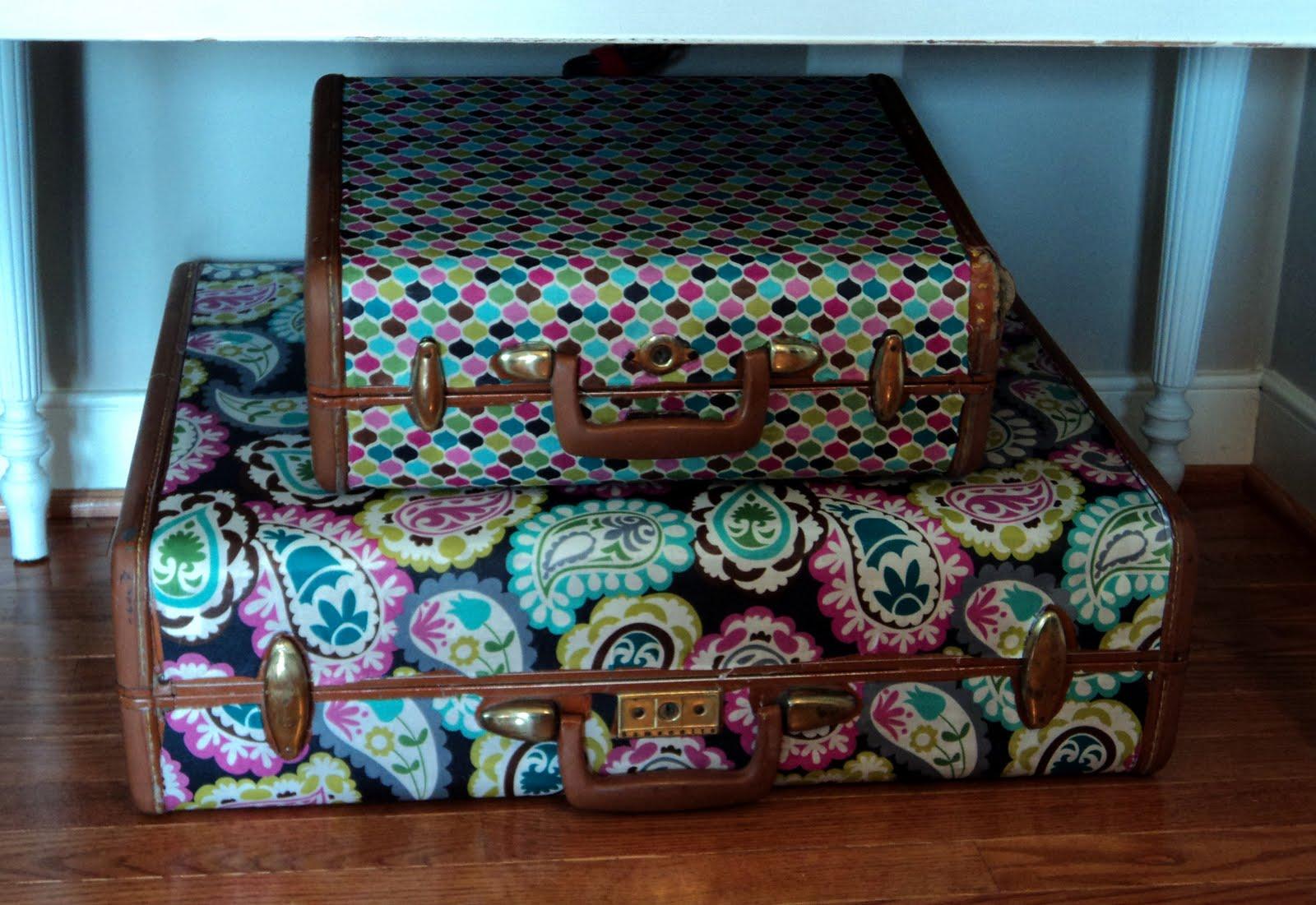 Декор чемодан своими руками 880