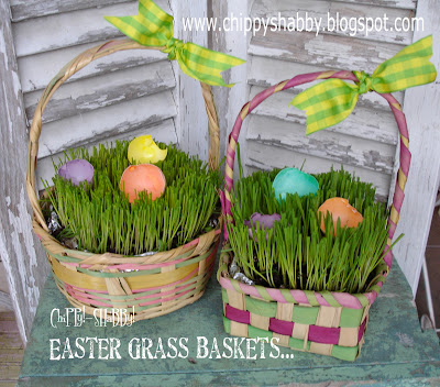 Empty Easter Basket With Grass