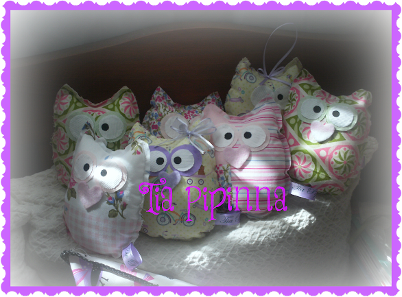 Mini almohadones Buho!