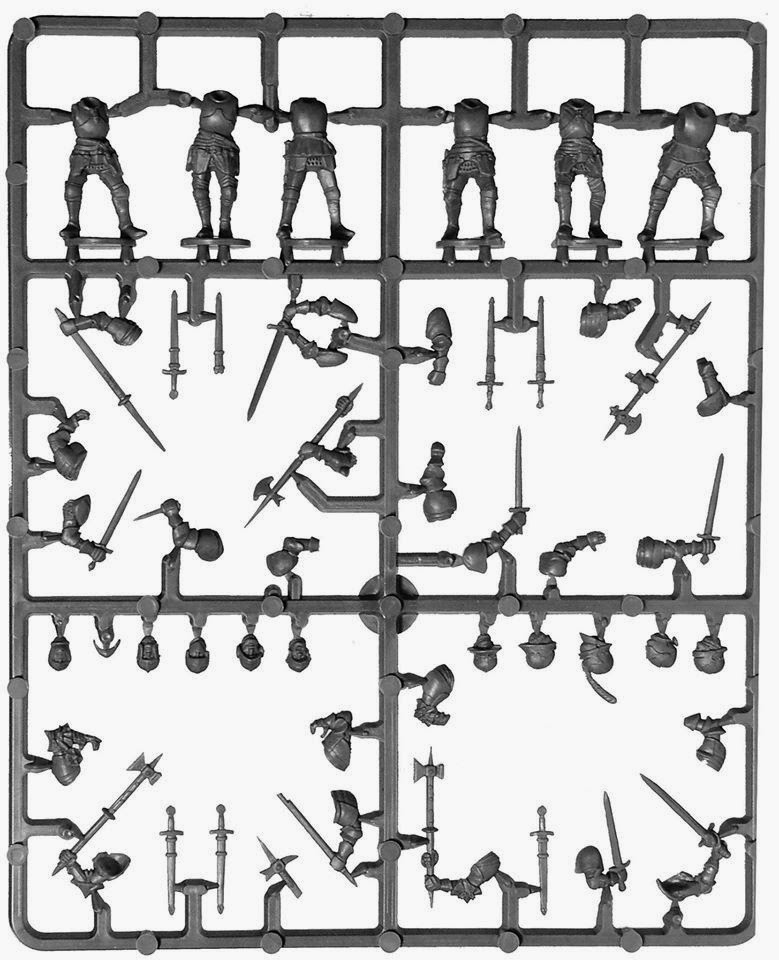 Perry Miniatures Foot Knights 1450-1500 Sprue