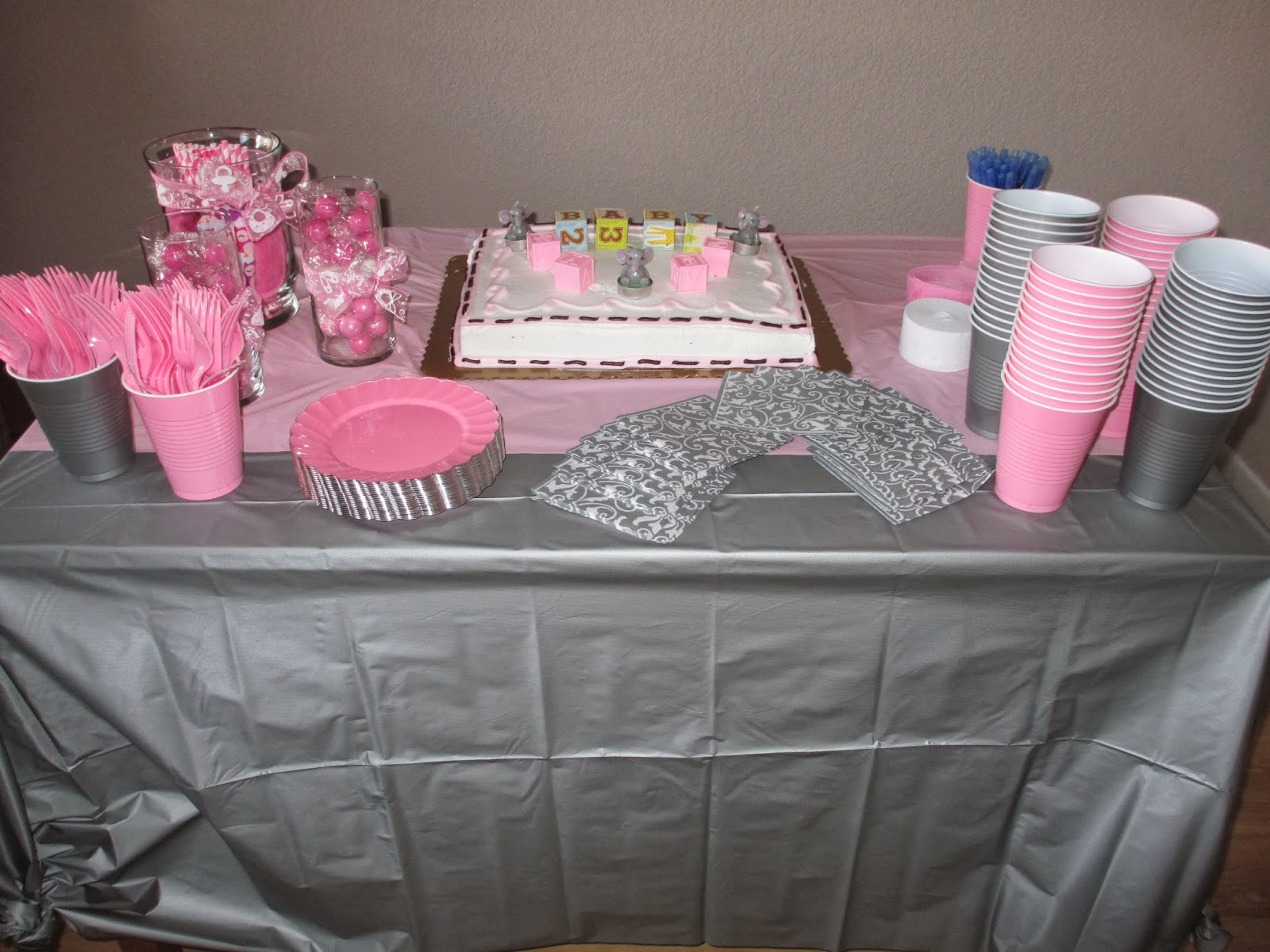 High Waisted Ambitions Pink & Grey Elephant Baby Shower
