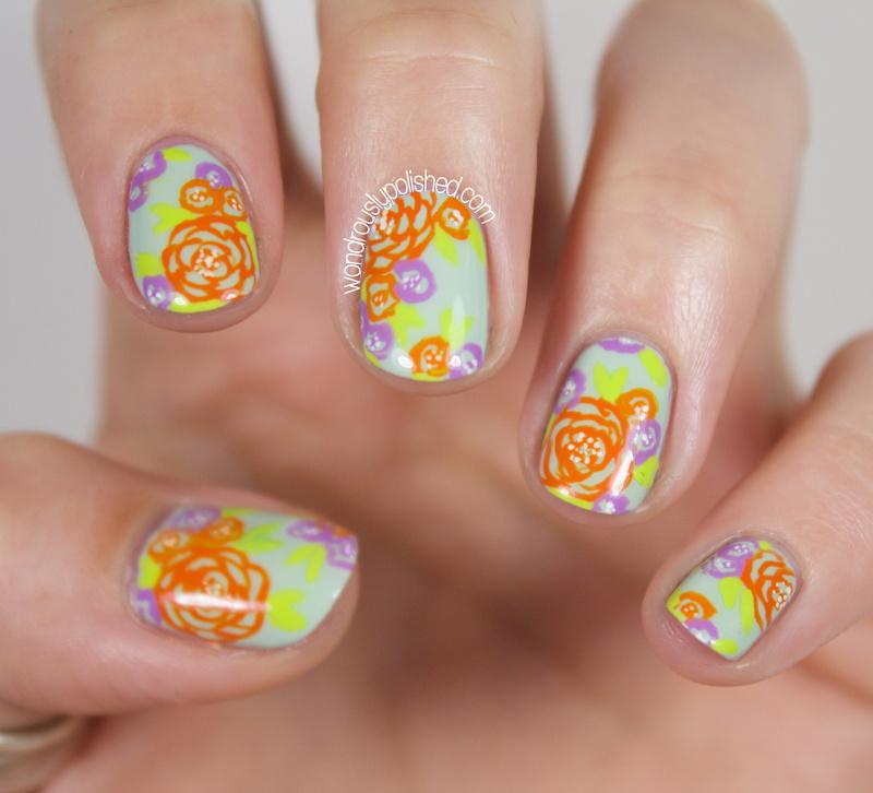 Wondrously Polished 31 Day Nail Art Challenge: Wondrously Polished: 31 Day Challenge 2.0, Day 4