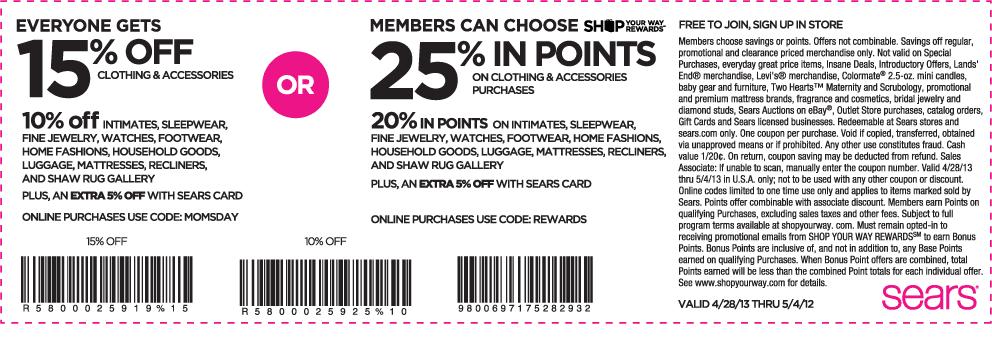 Sears coupon codes january 2018
