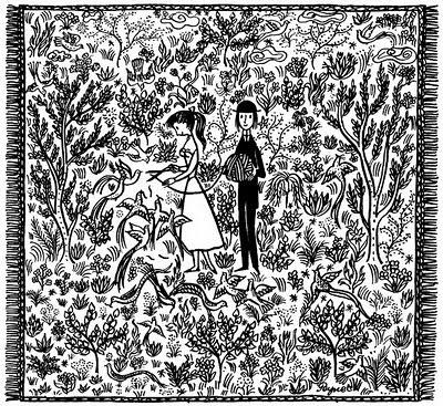 Raymond Peynet Persia illustration from L'Amour