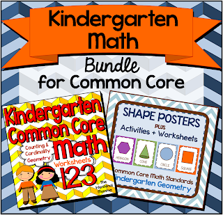 worksheets printable bundle geometry counting cardinality teachers pay aligned activities pages posters