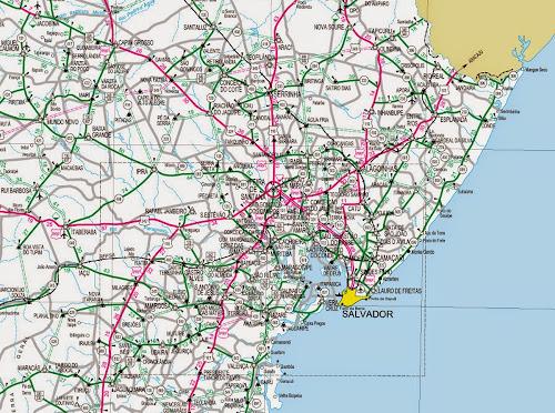 Mapa de lovalização de Feira de Santana
