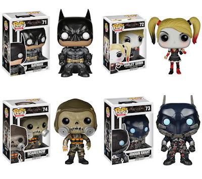 Batman: Arkham Knight Pop! Vinyl Figures by Funko – Batman, Harley Quinn, The Scarecrow & Arkham Knight