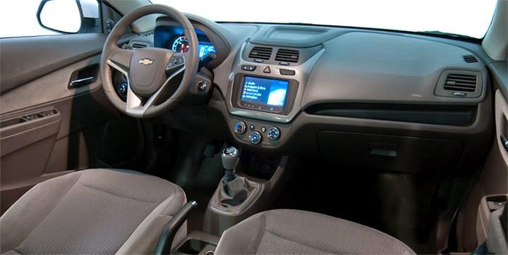 Novo Chevrolet Cobalt 2015 fotos interior painel acabamento