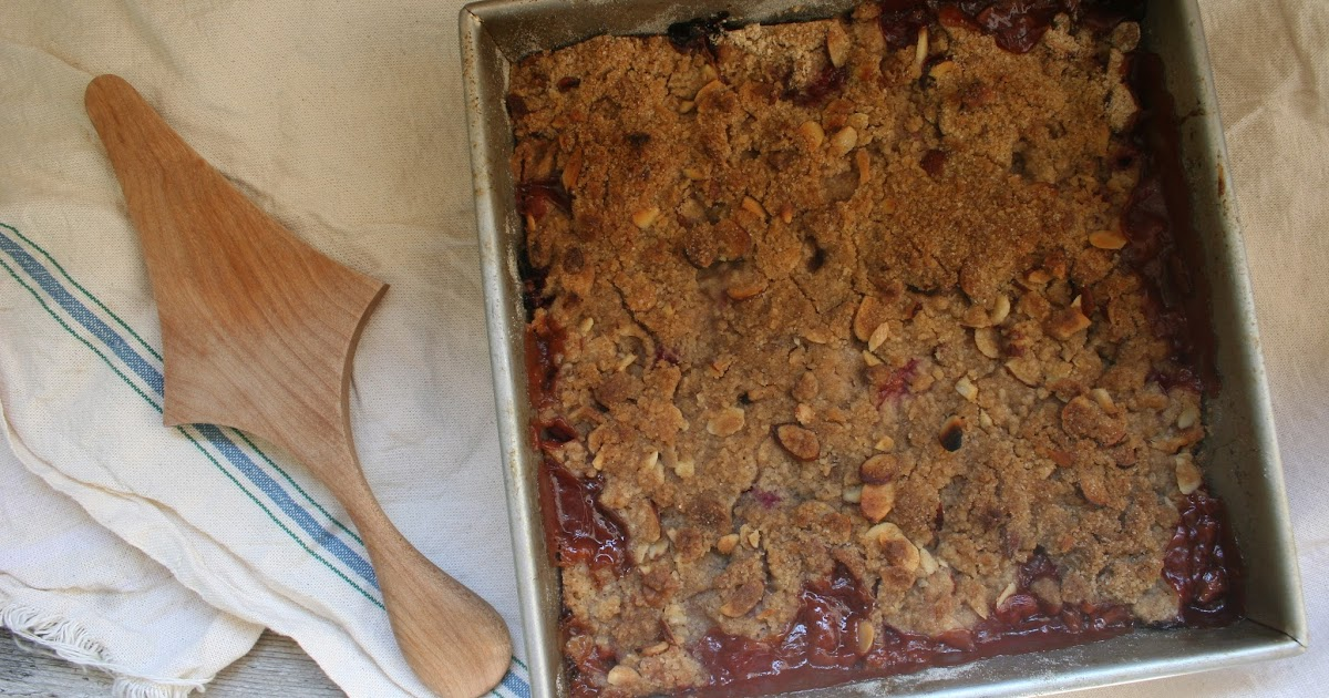 Nothing in the House: Plum-Cherry Crumble