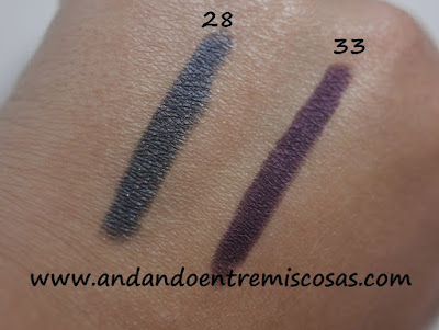 Color-Up Long Lasting Eyeshadow de Kiko, Swatches