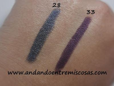 Color-Up Long Lasting Eyeshadow de Kiko, Swatches