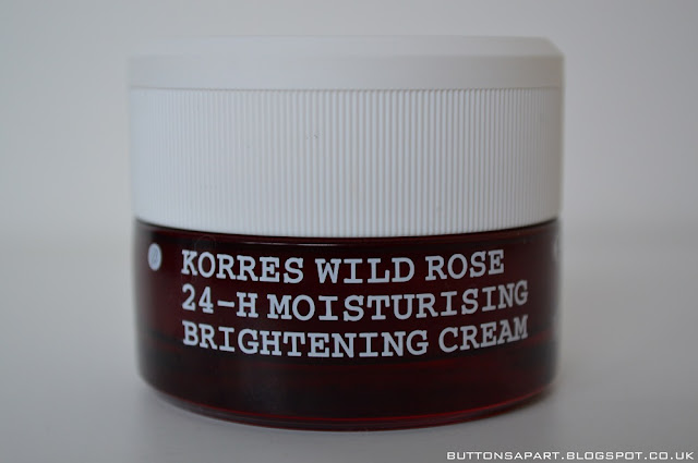 a picture of the korres wild rose 24-hour moisturising & brightening cream