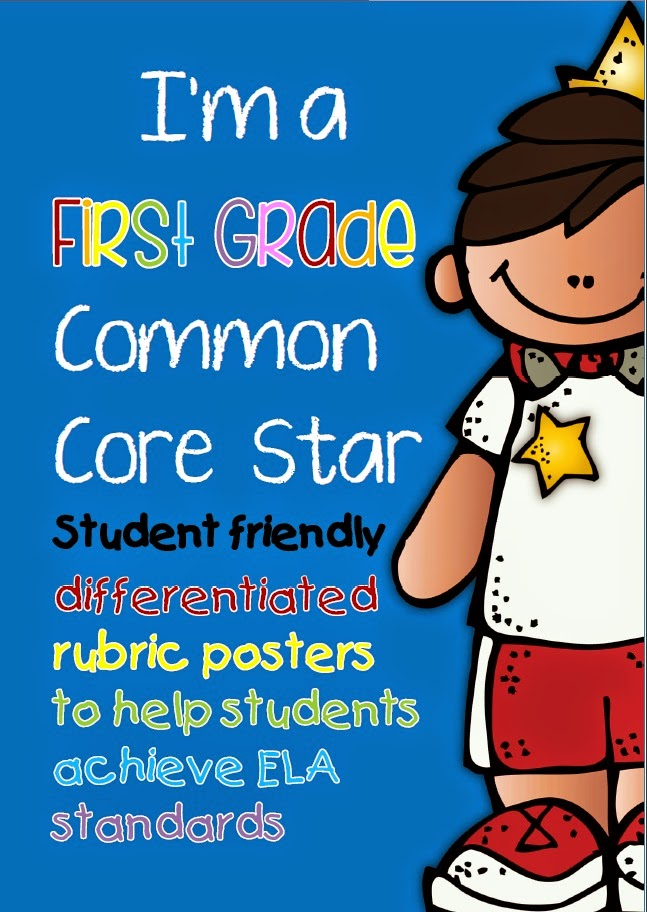 Common Core ELA Rubric Posters and Checklists for Grade One   These Common Core posters are more than 'I statements'. The differentiated posters are a workable resource that you will use as a starting point to plan, implement and evaluate your lessons.