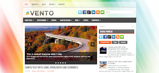 Vento Blogger Template Is a PRemium Wordpress TO Blogger Converted Blogger Template