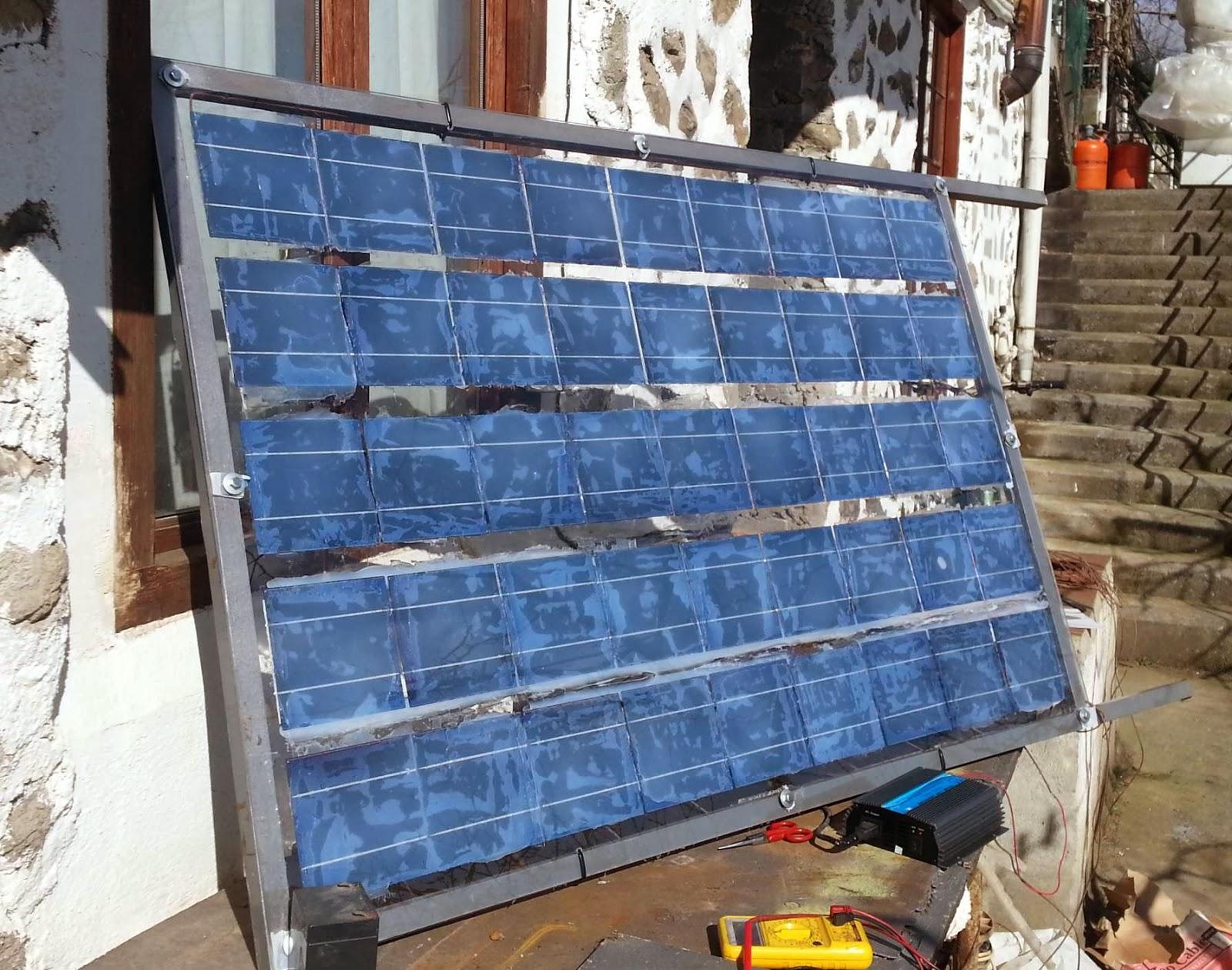 Panel Fotovoltaico Casero Al Sol