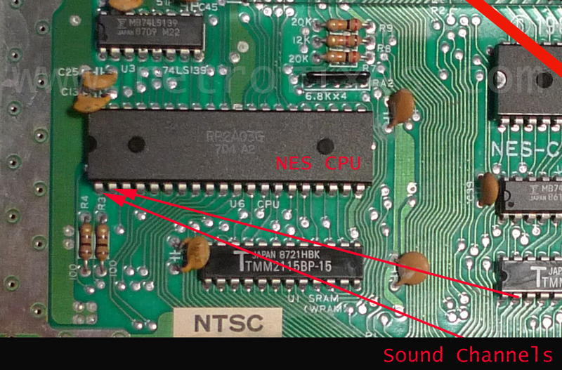 NES Stereo Modifications with Easy Schematics | RetroFi on nes parts list, nes controller wire, nes snes, nes power supply, nes prototype, nes controller wiring, nes dimensions, nes motherboard diagram, nes dev, nes table, nes led, nes map,