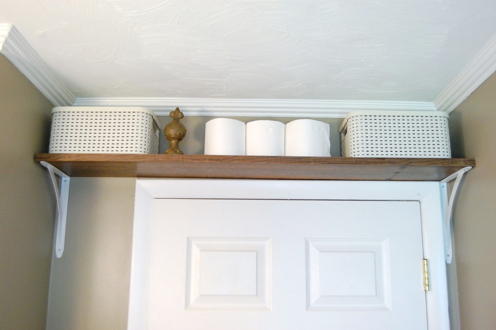 Is there space for a shelf above the door?