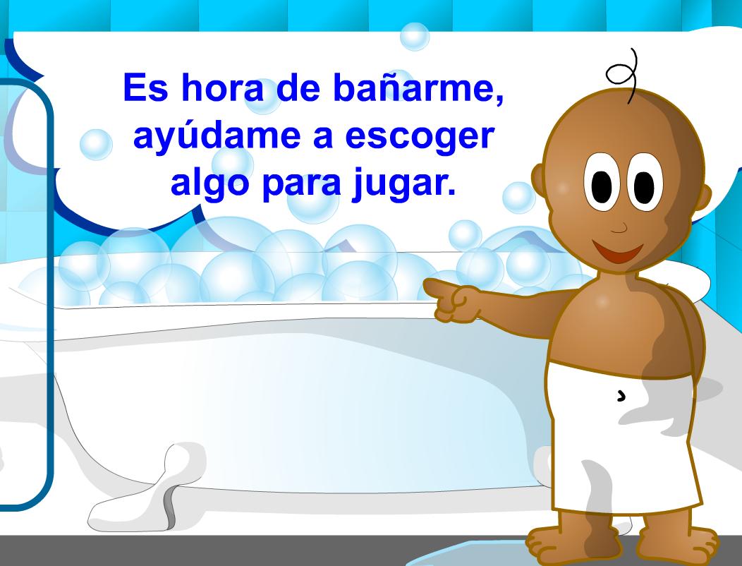 El Baño Cuento Infantil:CUENTOS (MUSICAL, DE BAÑO) Y UN JUEGO DE BAÑO, muy sencillos
