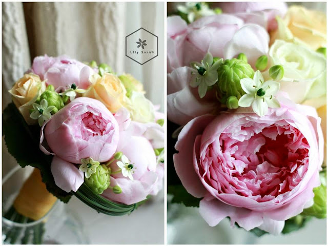 Peony bouquet 牡丹花球 by Lily Sarah